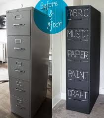 Chalk Paint On Metal Filing Cabinet File Cabinet Ideas Metal Furniture And Storages Fabric