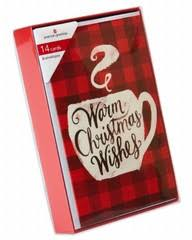 warm mug and flannel christmas boxed cards 14 count shop