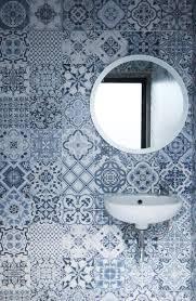 small bathroom renovation using the roman dutch blue granite tile