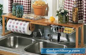 Sink Organizer Designs For Your Tidy Kitchen Gadget Sharp - Kitchen sink shelves