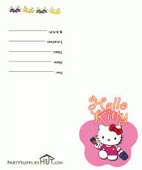 Hello Kitty Invitation Card Maker Free Hello Kitty Invitation Birthday Party
