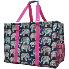 elephant print mega utility bag hpk ele809 hpk ngil tote bags