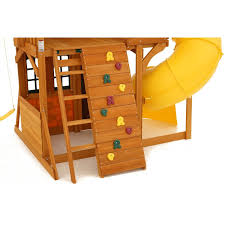 amazon com cedar summit play set wooden house deck swings
