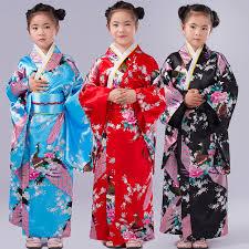 children peacock yukata clothing japanese kimono dress kids