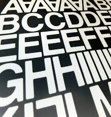 90 x 1 inch 25mm stick on self adhesive vinyl letters u0026 numbers