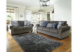 Gray Living Room Set Navasota 5 Living Room Set Furniture Homestore