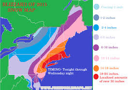 Snow Map Blizzard Of 2015 Snow Map Con Weather
