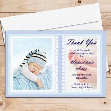 Baptism Card Invitation 10 Personalised Baby Birth Christening Baptism Thank You Photo