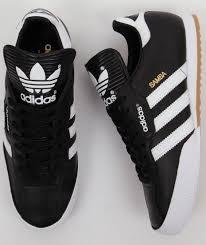 black samba adidas originals mens samba trainers in black white