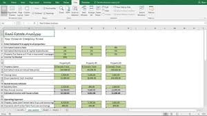 Rental Spreadsheet Template Investment Property Analysis Worksheet Rental Property Roi