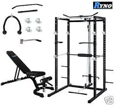 Squat Rack And Bench Press Combo Ryno Ultimate Power Rack Cage With Weight Bench Combo Deal