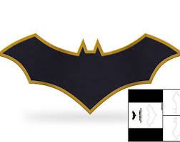 template 1989 batman chest emblem