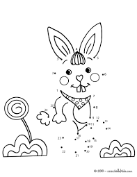 rabbit do to dot game coloring pages hellokids com