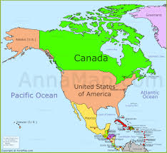 Political Map Of Canada North America Political Map Political Map Of North America