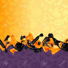 halloween background image orange and purple halloween background with candy graphics are