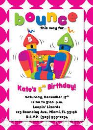 bounce house birthday invitation printable just click print