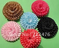 ribbon flowers 60pcs satin ribbon flower trim sewing free shipping in