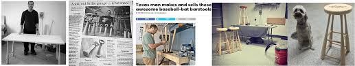 baseball bat stools