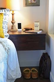 Wall Mounted Nightstand Bedside Table Bedroom Terrific Appealing Brown Attachable Bedside Shelf With