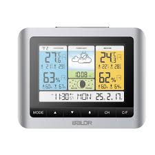 baldr digital weather station wireless color forecast in outdoor