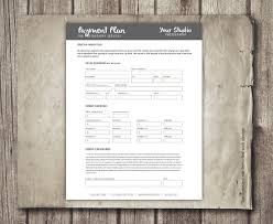 Financial Planning Worksheet Photography Payment Plan Form Template Financial Contract