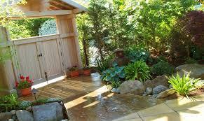 exterior decoration amazing garden fence ideas with fish pond mini