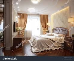 luxury bedroom interior design classic style stock illustration