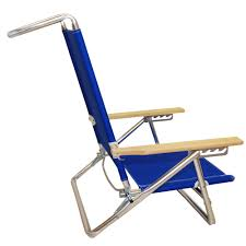 Flat Folding Chair 5 Position Lay Flat Aluminum Folding Beach Chair Blue By Jgr