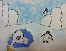 art lesson polar bear and penguins kindred art studio