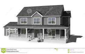 two story house gray stock photo image 55857184