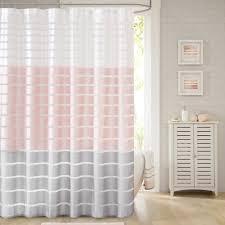 demi 72 inch x 96 inch shower curtain in blush bathroom diy