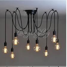 Multi Pendant Lighting Aliexpress Com Buy Loft Retro Black Spider Pendant Lights