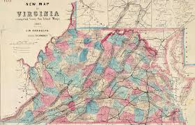 County Map West Virginia by Virginia West Virginia Boundary