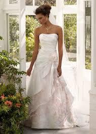 davids bridals davids bridal strapless organza floral dress size 0 wedding dress