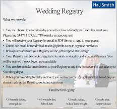 wedding gift registry list online shopping at h j smith