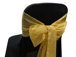 gold chair sashes chair sashes live n lavish events