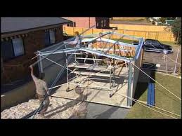 fair dinkum sheds construction video youtube