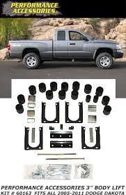 dodge dakota reviews 2005 pa 2005 2011 dodge dakota 3 lift kit 60163