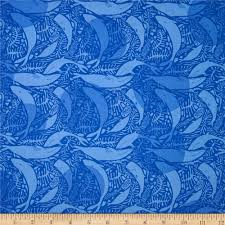 Home Decor Print Fabric by Natural History Whales Royal Blue Discount Designer Fabric