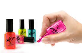 high stylers nail varnish or polish shaped highlighters assorted