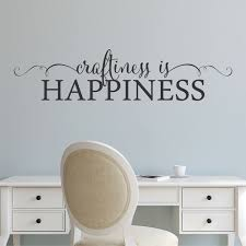creative wall decal etsy wall quote decal craftiness happiness craft room creative inspirational motivational maker girlboss create vinyl
