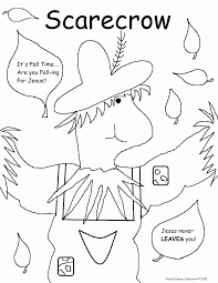 coloring pages of scarecrows for preschooers kids coloring