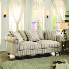 Striped Sofas Living Room Furniture by Homelegance Hadleyville Sofa In Stripe Fabric Beyond Stores
