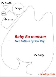 sew cute friendly monster free pattern u2014 sew toy