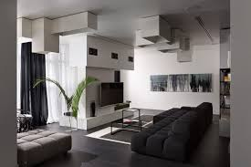 lera katasonova design creates a black and white apartment for a