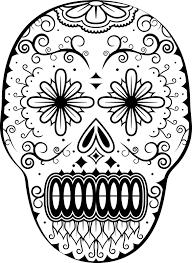coloring dia de los muertos coloring