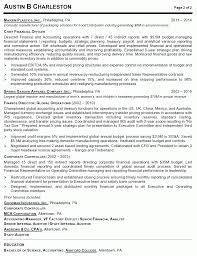 Best Resume Format For Vice President by Resume Sample 4 Vice President Of Operations Career Resumes