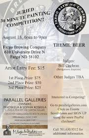 Fargo Open Friday After Thanksgiving Juried 30 Minute Painting Competition At Fargo Brewing Company