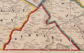 Reading Pennsylvania Map by Ancestor Tracks Adams County Atlas 1858