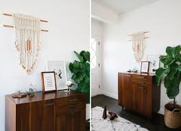 diy copper and cotton macrame wall hanging brit co